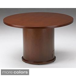 Mayline Mira Wood Veneer Round Conference Table with Drum Base Today