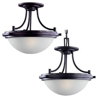 Winnetka 2 light Ceiling Semi Flush Pendant Light Fixture Today $188