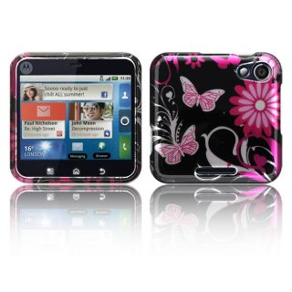 Luxmo Motorola Flipout Pink Butterfly Protector Case