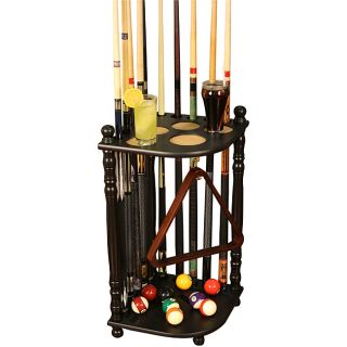 Hardwood 10 pool cue Billiards Rack with Durable Black Finish Today $