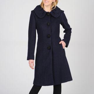 Ivanka Trump Womens Wool Blend Coat