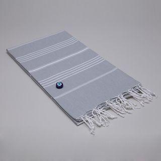 Authentic Fouta Grey Turkish Cotton Towel