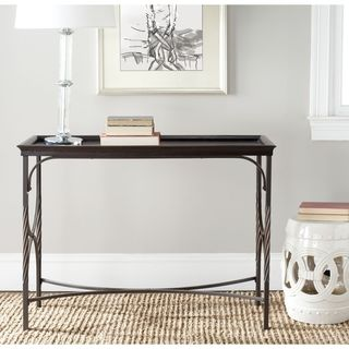 Hastings Antique Pewter/ Dark Walnut Console Table