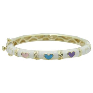 Goldtone and Multi colored Enamel Baby Bracelet