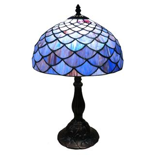 Tiffany style Blue Shell Table Lamp