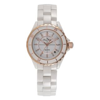 Lucien Piccard Unisex White Ceramic Collection Stainless Steel Watch
