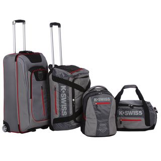 Swiss Tech Sport Collection Grey 4 piece Upright/Duffel/Backpack