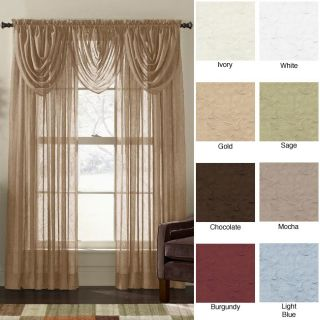Crinkle Voile 84 inch Sheer Curtain Panel Pair