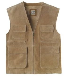 TravelSmith Mens Washable Suede Vest Clothing