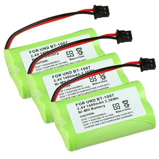 Compatible Ni MH Battery for Uniden BT 1007 Cordless Phone (Pack of 3