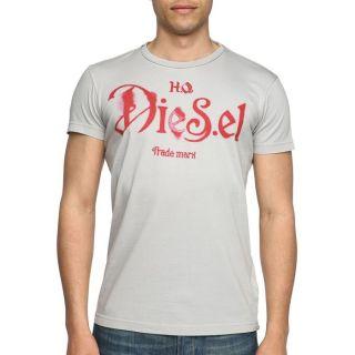 DIESEL T Shirt Ninao Homme Gris et rouge   Achat / Vente T SHIRT