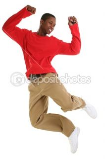Casual Man Jumping For Joy with Car Keys  Foto Stock © Jaimie