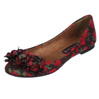 Steven by Steve Madden Womens P Keri Floral print Ruffle toe Flats