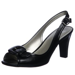Nickels Womens Darby Black Slingbacks Heels