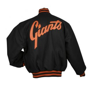 JH Designs Mens San Francisco Giants Domestic Wool Jacket