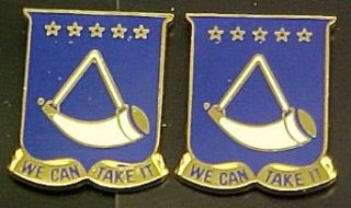 150th Armor West Virginia Distinctive Unit Insignia   Pair
