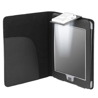 Black Leather Case with Light for  Kindle Touch