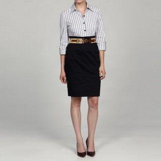 Jessica Howard Womens 3/4 Sleeve Belted Dress