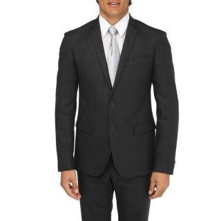 Coloris : noir. Costume 2 pièces, veste col tailleur, fermeture 2