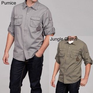 Seven7 Mens Twill Two pocket Shirt