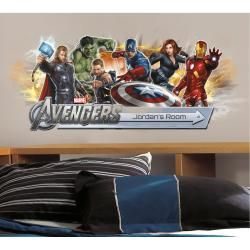 RoomMates Avengers Peel and Stick Giant Headboard with Personalization