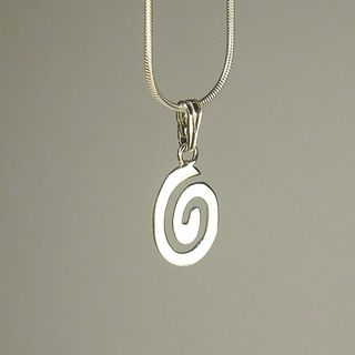 Jewelry by Dawn Oval Swirl Sterling Silver Snake Chain Necklace