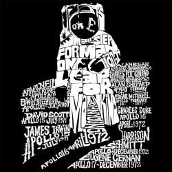 Los Angeles Pop Art Mens Astronaut T shirt
