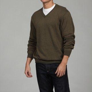 Weatherproof Mens V neck Cotton/Cashmere Blend Sweater