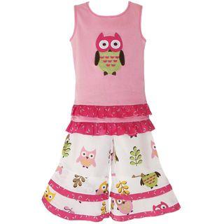 AnnLoren Adorable Girls Boutique Owl Outfit