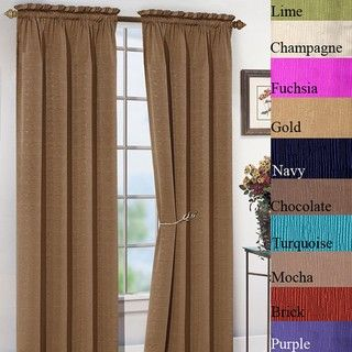 Samantha 84 inch Jacquard Curtain Panel Pair