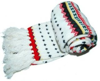 Polo Ralph Lauren Mens Womens Cashmere Scarf White Red