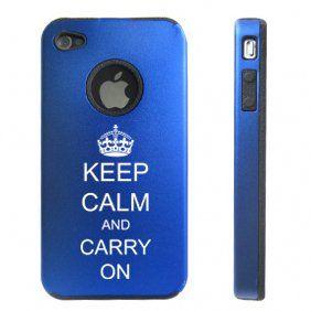 Apple iPhone 4 4S 4G Blue D1716 Aluminum & Silicone Case