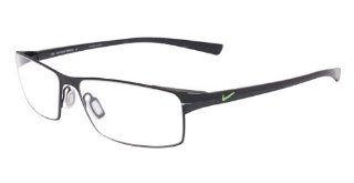 Nike 4203 Eyeglasses (7) Satin Black Chrome, 55mm NIKE