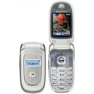 Motorola V191 Silver Quad band Unlocked GSM Flip Phone