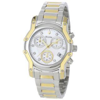 Bulova Womens Wintermoor Two Tone Diamond Chronograph Watch