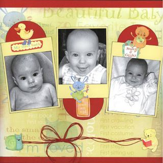 Karen Foster Design 186 piece Babys First Scrapbook Kit