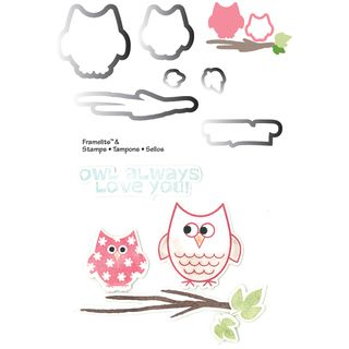 Sizzix Framelits Dies 6/Pkg With Cling Stamps Autumn Owls