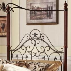 Madera Deco Full size Canopy Metal Bed