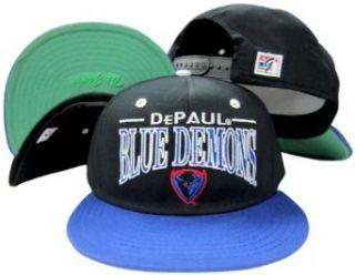 Depaul Blue Demons Black/Blue Snapback Adjustable Plastic