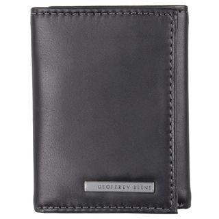 Geoffrey Beene Mens Genuine Leather Trifold Wallet