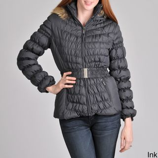 Nuage Womens Melbourne Down Jacket with Quilt Detail and Belt