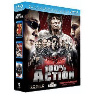 Coffret 100% action  expenen BLU RAY FILM pas cher