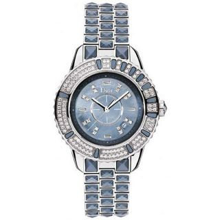 Christian Dior Womens Christal Blue Sapphire and Diamond Watch