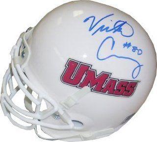 Victor Cruz Autographed/Hand Signed UMass Minutemen Schutt