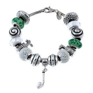Signature Moments Sterling Silver Golf Theme Bracelet