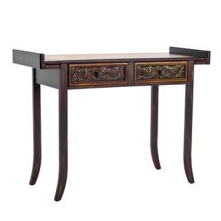 Kasey Brown Wood Console Table