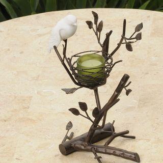 Les Prado Love Bird Fine Bone China and Metal Table Accent
