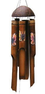 Cohasset 163 Small Rainbow Butterfly Wind Chime Patio