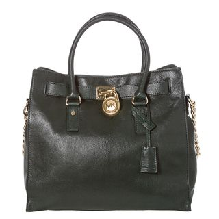 MICHAEL Michael Kors Hamilton Large Forest Green Leather Tote Bag