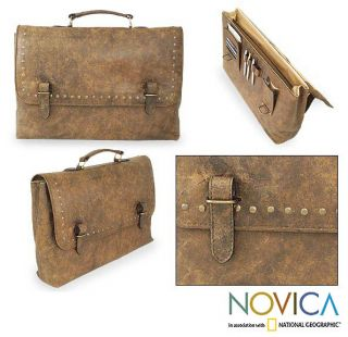 Amber Style Leather Briefcase (Mexico)